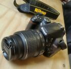 NIKON D3000 DSLR CAMERA with NEW SIGMA 300 MM ZOOM LENS.