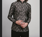 Phix Clothing vintage 60s inspired Lennon Nehru Paisley Shirt NEW with tags