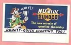 LOT of 3 MINT DISNEY SUNOCO BLOTTERS NEW OLD STOCK