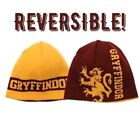 Gryffindor Harry Potter hat Reversible Knit Beanie licensed toque yellow NEW
