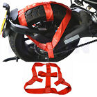 Red Universal Motorcycle Rear Wheel Tie Down Strap Tire Cover Transport Belt 1x