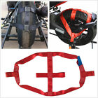 Foldable Motorcycle Rear Wheel Handlebar Transport Tie Down Strap Red Polyester