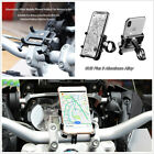 Motorcycle Bicycle CNC Aluminum Handlebar Phone Holder Adjustable Clamp 55-100mm