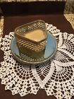 VIntage Beveled Glass Triangle Shape Filigree Ormolu Jewelry Box Footed Mirror