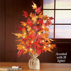 Autumn Leaves Tabletop Lighted Tree Decoration Fall Centerpiece Harvest Ornament