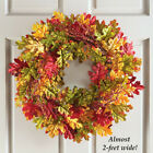 Fall Door Wreath 22 Autumn Leaves Wall Decoration Hanging Ornament Harvest Home