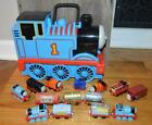 THOMAS THE TANK & FRIENDS~14 TRAINS & STORAGE CASE SET~DIECAST LEARNING CURVE