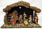 VINTAGE CHRISTMAS NATIVITY WOOD SCENE MADE IN ITALY