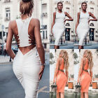 Sexy Women Bandage Bodycon Casual Sleeve Evening Party Cocktail Club Mini Dress