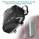 Motorcycle Scooter ATV Tail Bag Rear Seat Kit Sport Travel Luggage Helmet Holder