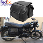 Soft Motorcycle Saddle Bags Tail Storage Case Black Pannier For Honda Suzuki USA