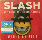 SLASH WORLD ON FIRE CD BEST BUY EXCLUSIVE T-SHIRT EDITION