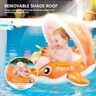 Baby Pool Float with Canopy Sunshade Whale Water Toys Inflatable Swimming Ring