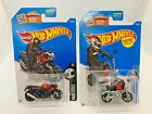 2016 Hot Wheels Bikes Lot Of 2- Honda Monkey Z50 Red / BMW K 1300 R Red- New
