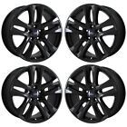 18 FORD EXPLORER GLOSS BLACK WHEELS RIMS FACTORY OEM SET 10182 EXCHANGE