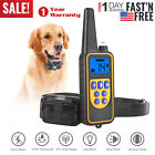 875 Yard Pet Dog Training Collar Electric Shock Rechargeable Remote Waterproof
