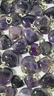 Amethyst Heart Pendants 10 to 20mm Natural Gemstone Charm Drops India 100pc lots