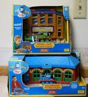 NEW Thomas & Friends Take Along Playset Roundhouse & Timber Yard + Die-Cast toys