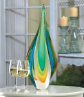 Stunning Large 18 Teardrop Art Glass Sculpture Colorful Home Decor Accent