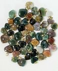 Agate Mix Heart Pendants 10 to 22mm Natural Charm Drops from India 50pc lots NEW