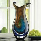 Gorgeous Swirled Art Glass 155 Tall Vase Home Decor Decorative Colorful Accent