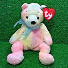 Ty Beanie Baby Mellow The Multi-Colored Rainbow Teddy Bear MWMT