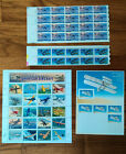 Lot Classic Aircraft 32 Airplanes Aviation US Postage Stamps Sheets 37 13 Lot