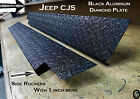 Jeep CJ5 Black Aluminum Diamond Plate Rocker Panels With Bend SET 5 1 4 WIDE