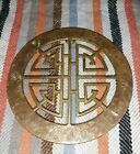 Vintage Brass Round Footed Trivet Asian Design Plant Stand AFTAB INDIA