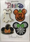 Disney Parks 2019 Halloween Pumpkin Ghost Mickey Clothing Patch Set PATCHED NEW