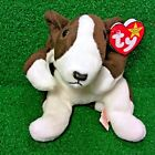 NEW Ty Beanie Baby Bruno The Terrier Dog 1997 Rare PVC Plush Toy - MWMT