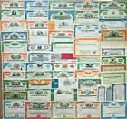 Mixed Lot Set of 55 stock and bond certificates all unique