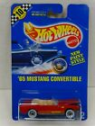 1991 Hot Wheels Blue Card Speed Points MOC 162 65 Mustang Convertible Red WW