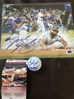 Delino Deshields Jr. Texas Rangers Signed Golf Ball And 8x10 Combo