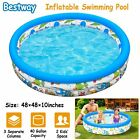 48 Inflatable Swimming Pool Blow Up Pool for Family Kids Backyard Foldable