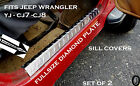 Jeep Wrangler YJ CJ7 CJ8 Aluminum Diamond Plate Entry Guard Sill Covers 24 long