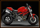 CA fit Ducati Monster 696 796 1100S EVO fairing sets kits cover + windshield red