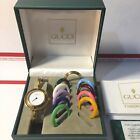 Vintage Authentic Gucci 11/12.2 Lady's Watch With Interchangeable bezels