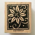 Poinsettia Rubber Stamp Stampin Up Christmas Holiday Flower Card Making Wood Mtd
