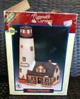 LEMAX White Cliff Lighthouse Porcelain 1997 Village Collection Plymouth Corners