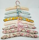 Large Lot of Vintage Shabby Chic Padded Floral Clothes Hangers 8 Total