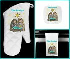 Christmas nativity Oven Mitt Pot Holder Kitchen Towel Personalized Name Hoilday