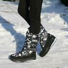 Womens High top With Velvet Warm Snow Boots Winter Pull on Outdoor Ski Shoes Hot