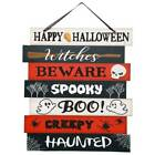 Happy Halloween Decorative Plank Wall Sign 11625x1025 in Witches Spooky w