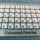 Cricut Universal Keypad Overlay for Cartridges  Expression Machine NO PACKAGING