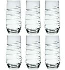 SET OF 6 Tall Crystal HIGHBALL TUMBLER Glasses Clear Water Juice Glass 1000 96