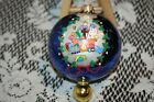 Christopher Radko Cute Mission Ball Ornament with Finial at Bottom Made in Polan