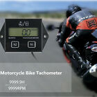 Motorcycle Tachometer LCD Digital Display  ATV Engine Inductive Hour Meter Gauge