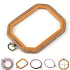 8-Size Wood Plastic Wooden Cross Stitch Hoop Ring Embroidery Sewing Set Frame