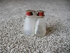 Vintage Brinkman Produce Clear Glass Salt and Pepper Shakers